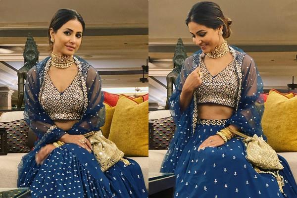 hina khan looks gorgeous in traditional outfit