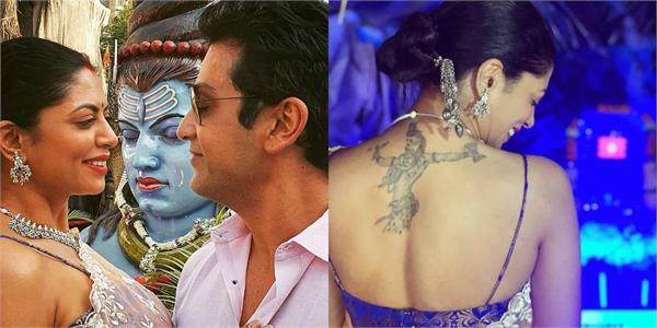 kavita kaushik flaunts bhole shankar tattoo on mahashivratri