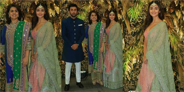 alia attend armaan jain and anissa reception with boyfriend ranbir and neetu