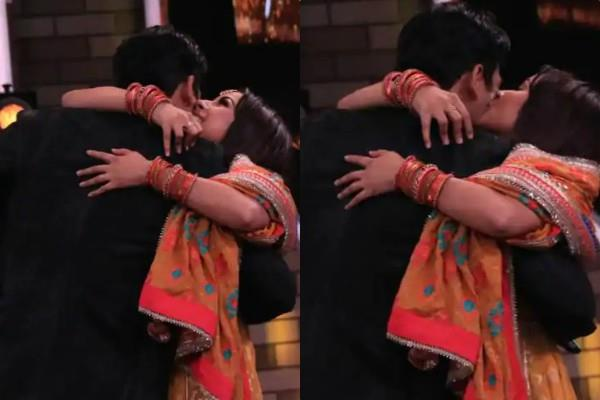 shehnaz kaur gill kiss sidharth shukla at bigg boss stage