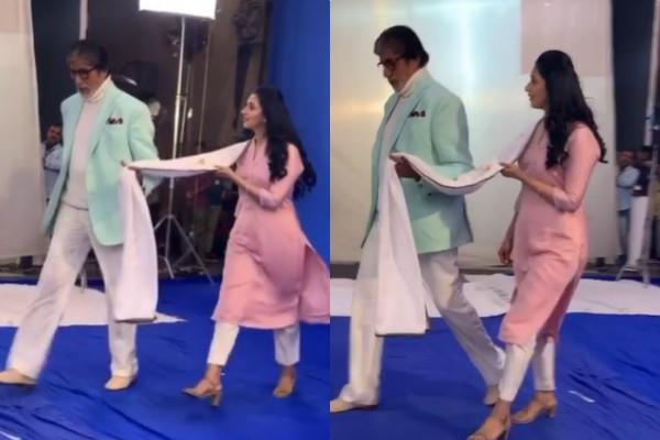amitabh bachchan divyanka tripathi video viral on social media