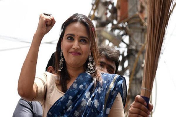 swara bhaskar happy for arvind kejriwal victory