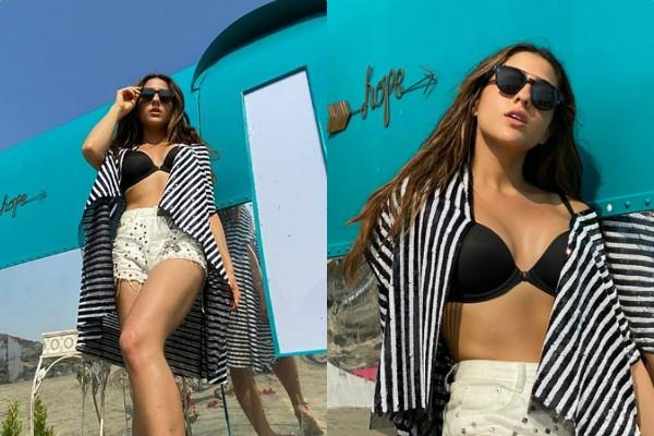 sara ali khan flaunts her killer figure in latest pictures