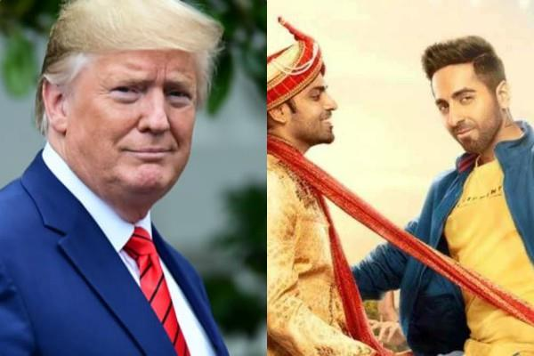 donald trump reacts over ayushmann shubh mangal zyada saavdhan