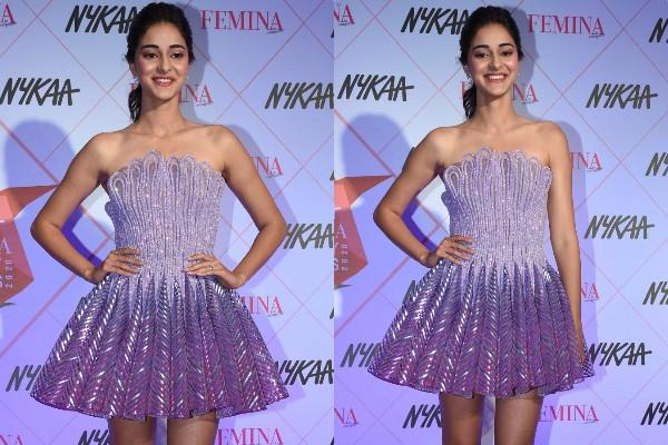 ananya panday spotted at famina beauty awards