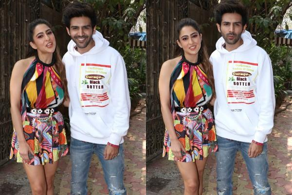 sara ali khan and kartik aaryan promotes their film