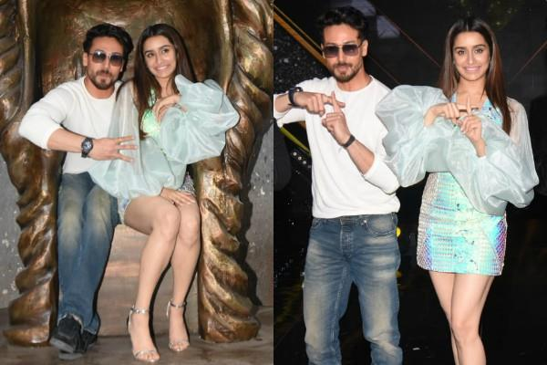 tiger shroff and shraddha kapoor spotted at dance plus 5 show
