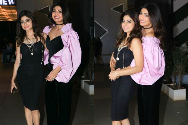 shilpa shetty celebrates sister shamita birthday