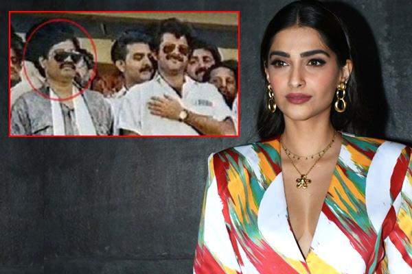 sonam kapoor comments on the picture of anil kapoor with dawood ibrahim