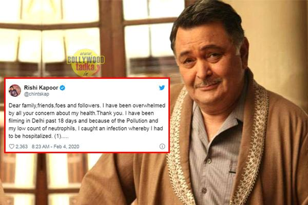 rishi kapoor says due to delhi pollution i had to be hospitalized