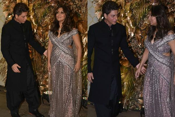 shahrukh khan attend armaan jain reception party with wife