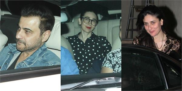 krishma kareena and others spotted at amrita arora birthday party