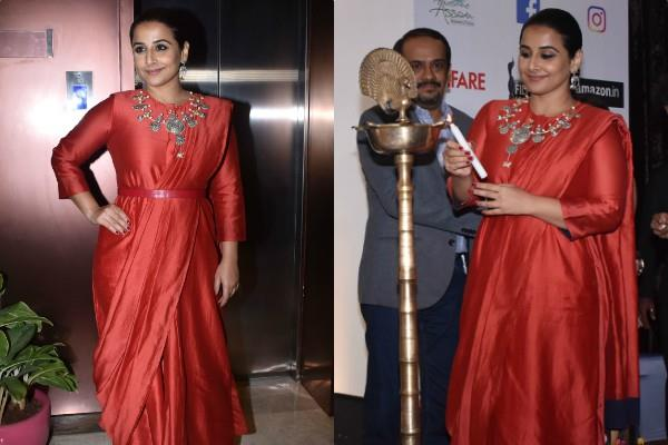 vidya balan attends press conference of amazon filmfare awards 2020