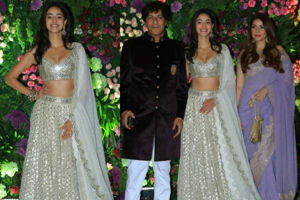 ananya panday attend armaan wedding with her family