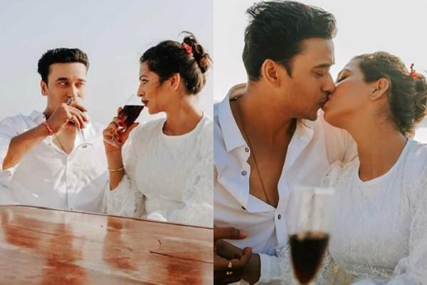 yeh hai hai mohabbatein fame anurag sharma and his wife lip lock pictures viral