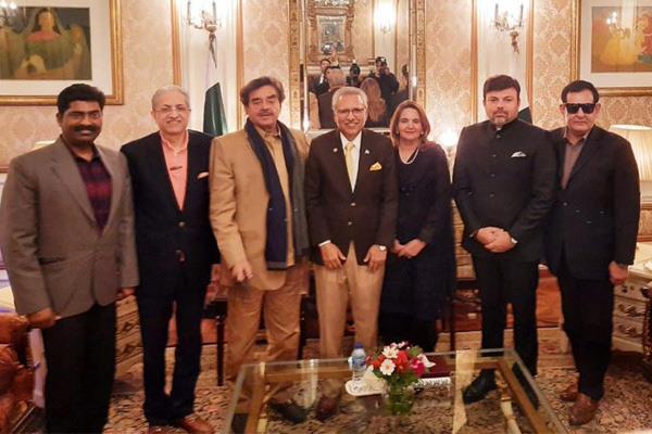 shatrughan sinha met pakistan president arif alvi in lahore