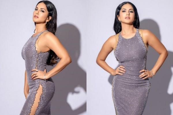 sunny leone flaunts her killer figure in bodycon dress