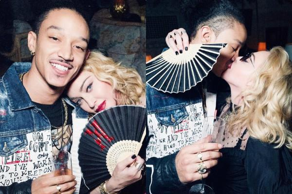 61 year madonna get cozy with 25 year old boyfriend in party