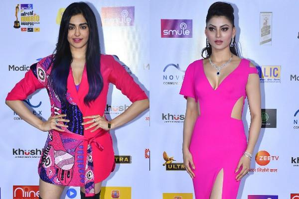 adah sharma and urvashi rautela spotted at awards show