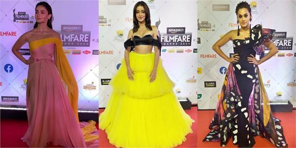 ananya panday alia bhatt and others looked stunning on filmfare awards
