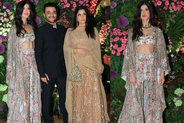 shanaya kapoor at armaan jain wedding with her parents