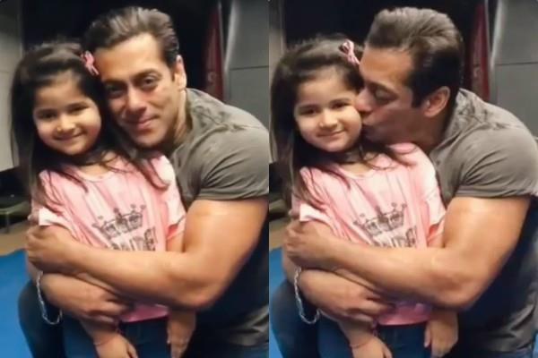salman khan kiss to his young fan cheek video viral on internet
