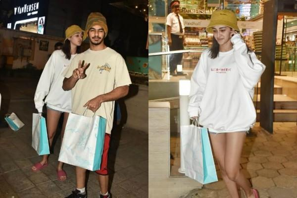ananya panday goes for shopping with ishaan khattar