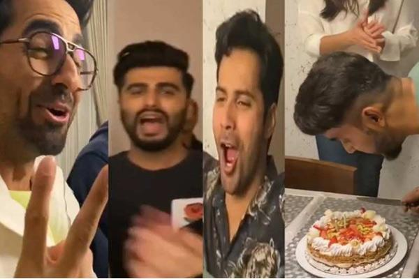 varun dhawan ayushmann khurrana and others celebrate shashank birthday