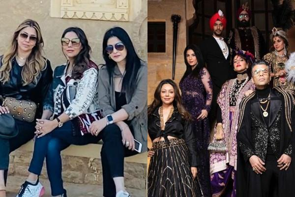 sanjay kapoor wife maheep with gauri khan and other stars in jaisalmer