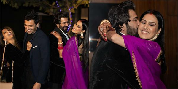 kamya punjabi cocktail party with husband and friends