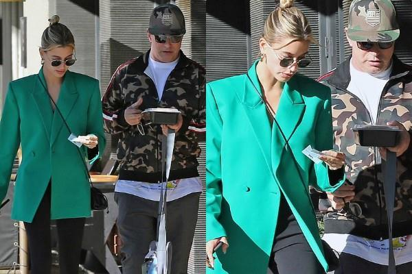hailey bieber lunch date with father at beverly hills