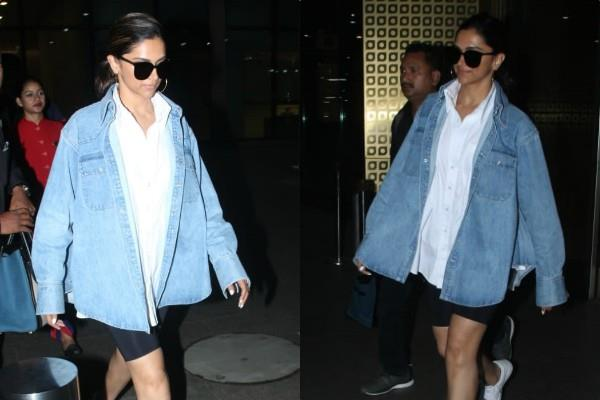 deepika padukone no makeup look at mumbai airport