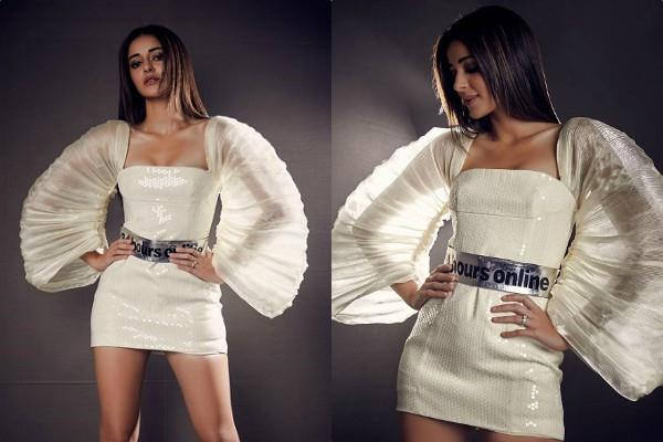 ananya panday looks stylish in bodycon dress