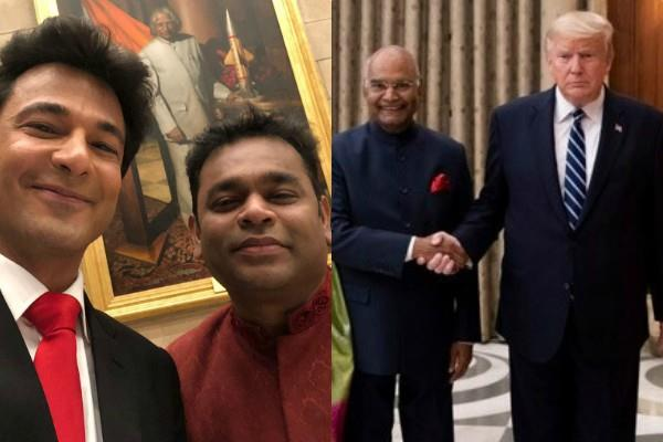 ar rahman vikas khanna dinner with donald trump in rashtrapati bhavan