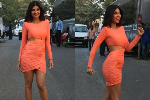 shilpa shetty flaunts her killer figure in bodycon dress