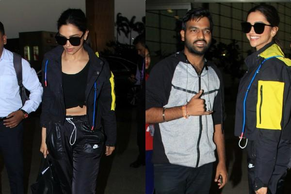deepika padukone looks stunning as she spotted at airport