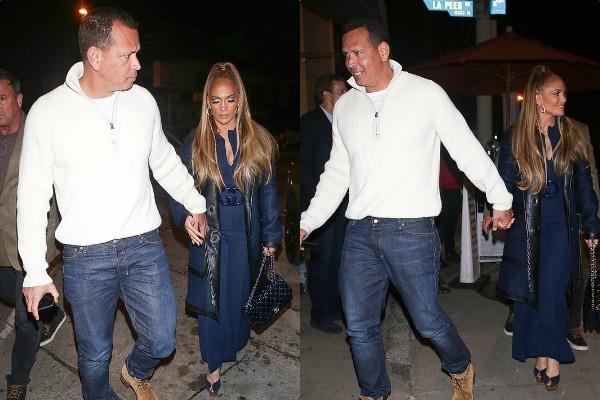 jennifer lopez romantic dinner date with fiance alex rodriguez