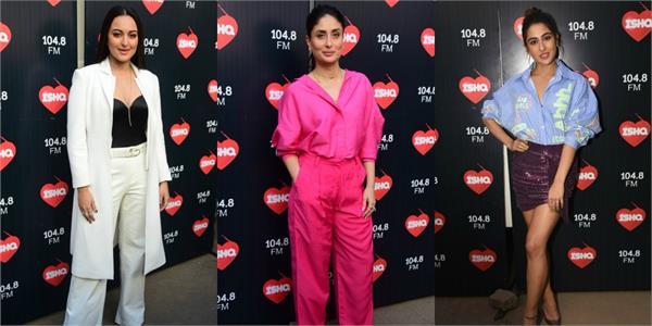 sara and sonakshi spotted at kareena kapoor talk show