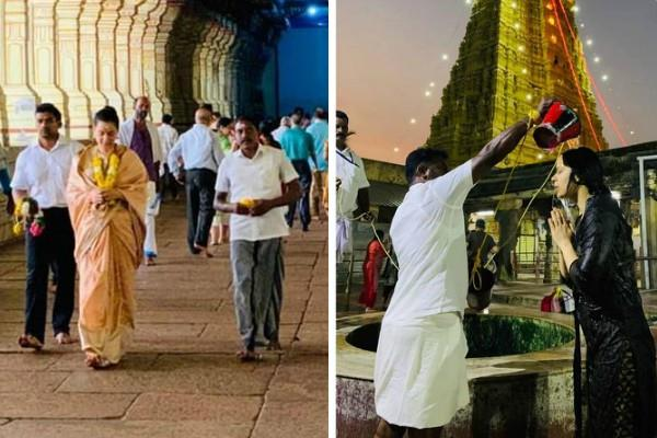 kangana ranaut visit rameswaram temple and late dr apj abdul kalam house