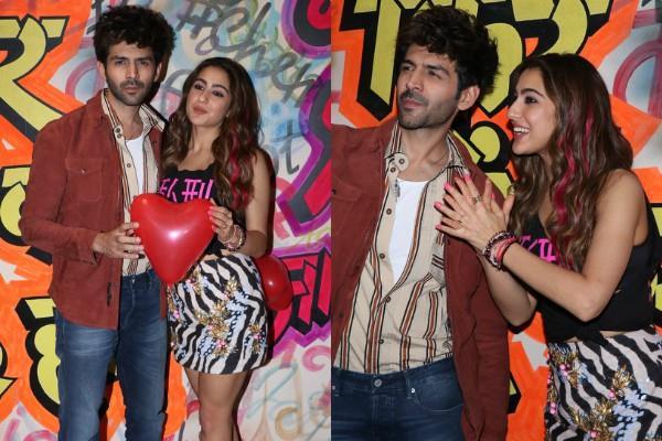 sara and kartik promotes film love aajkal