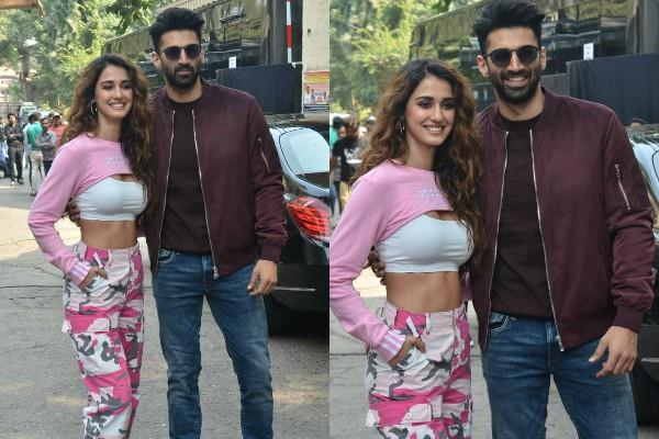 disha patani and aditya roy kapoor spotted at set of dance plus