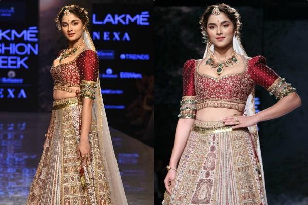 saiee manjrekar walks for lakme fashion week