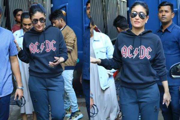 kareena kapoor spotted at bandra