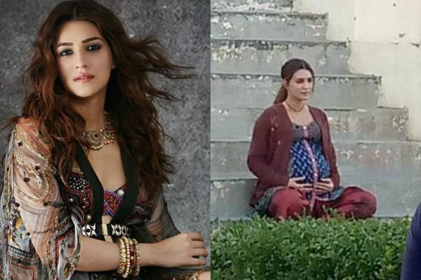 kriti sanon look viral from the set of mimi