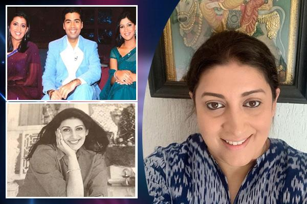 smriti irani shared a picture with karan johar