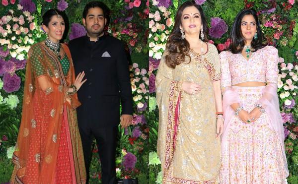 nita ambani with isha akash and shloka attend armaan jain wedding
