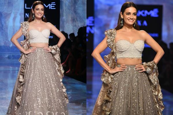 dia mirza looked gorgeous in lakme fashion week