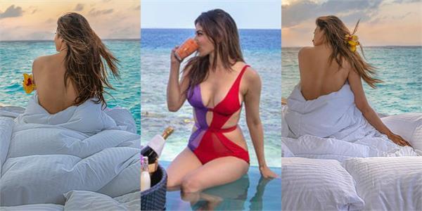 mouni roy shares vacation hot pics