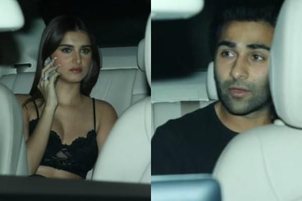 tara sutaria attends baaghi 3 screening with boyfriend aadar jain