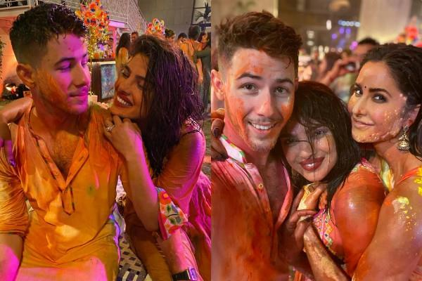 nick jonas celebrate his first holi with wife priyanka chopra